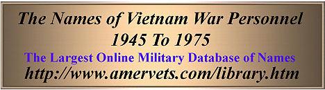 Vietnam War Deaths, Author's Notes